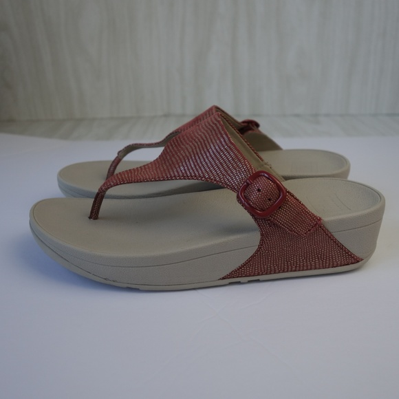 672a8b8458ba43 Fitflop Shoes - FitFlop The Skinny Lizard Embossed Sandals Spice 8